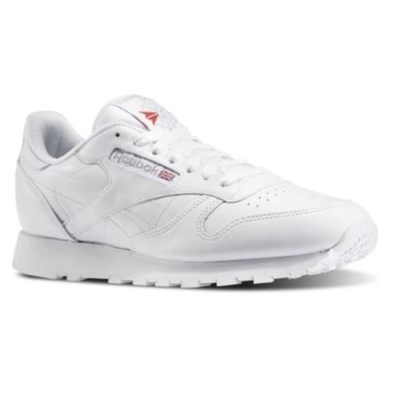 REEBOK CLASSIC LEATHER White Grey 9771 MENS CLASSI NWT
